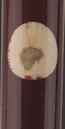 Pro Ink Dot on a Rawlings Bryce Harper wood bat - SKU: BH3PL