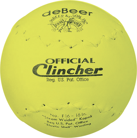 deBEER 16 in Clincher Yellow Softballs