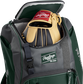 A Rawlings baseball glove in the top compartment of a Franchise baseball backpack - SKU: FRANBP-DG image number null