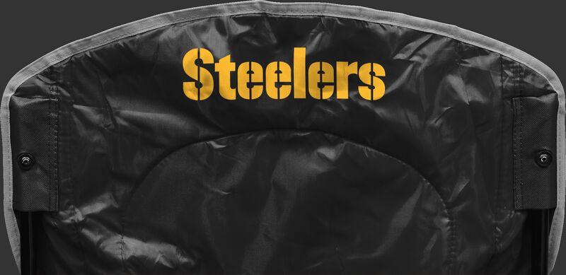 Back of Rawlings Black NFL Pittsburgh Steelers Chair With Team Name SKU #02771082111