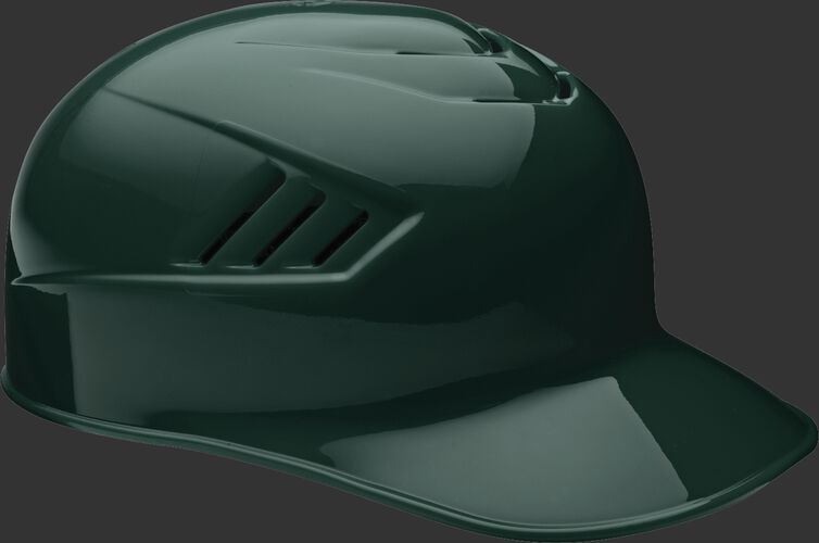 A dark green CFPBH Coolflo adult base coach helmet with Coolflo vents