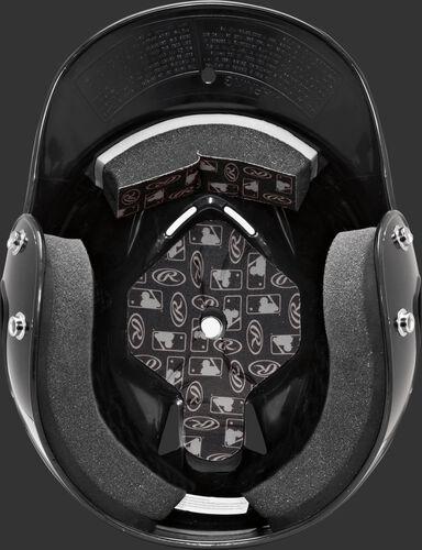 Inside foam padding of a Coolflo baseball helmet - SKU: RCFH