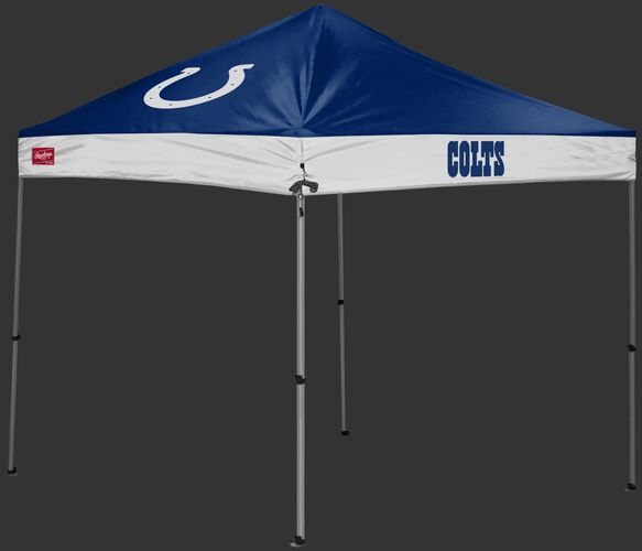 A  blue/white Indianapolis Colts 9x9 shelter with a team logo on the left side - SKU: 03231070112
