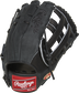 Suede back of a black Cody Bellinger Gameday 57 series outfield glove - SKU: PRO442-CB35 image number null