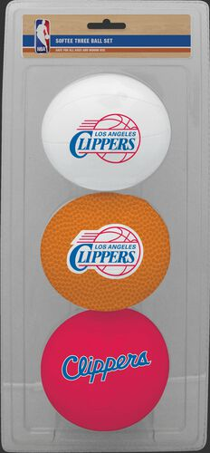 Rawlings White, Brown, and Red NBA Los Angeles Clippers Three-Point Softee Basketball Set With Team Logo SKU #03524219114