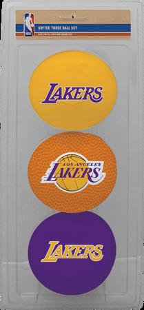 NBA Los Angeles Lakers Three-Point Softee Basketball Set