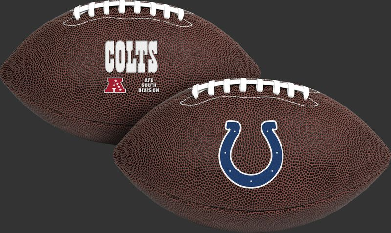 NFL Indianapolis Colts Air-It-Out youth football with team logo and team name SKU #08041070121