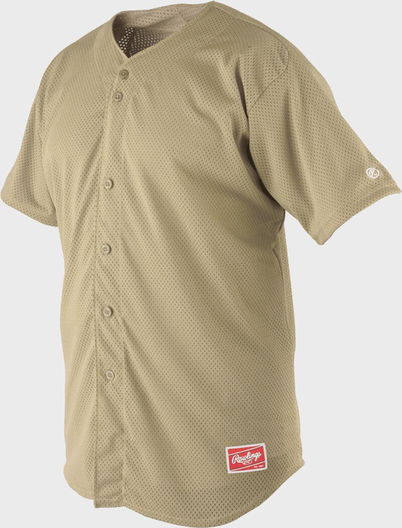 Front of Rawlings Vegas Gold Adult Short Sleeve Jersey  - SKU #RBJ167