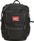 Front of a black CEO coach's backpack with a red Rawlings patch - SKU: CEOBP-B image number null