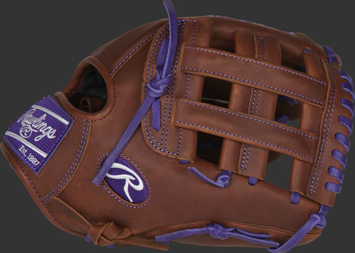 Thumb of a timberglaze PRO206-6TIP Heart of the Hide ColorSync 12-inch infield glove with a timberglaze H-web