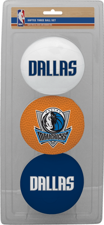 NBA Dallas Mavericks Three-Point Softee Basketball Set