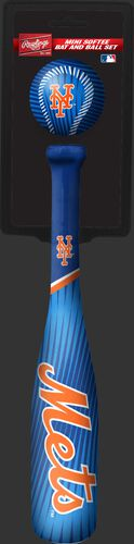 Rawlings New York Mets Softee Mini Bat and Ball Set in Team Colors With Team Name and Logo On Front SKU #01160017114