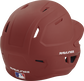 Back right of a one-tone matte cardinal MACH Rawlings batting helmet image number null