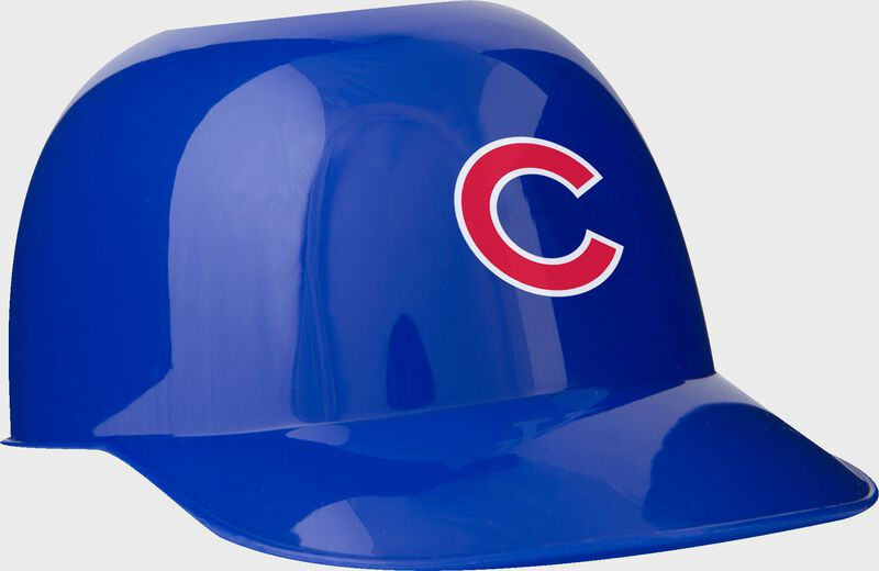 Front of Rawlings Blue MLB Chicago Cubs Snack Size Helmets With Team Logo SKU #01950008121
