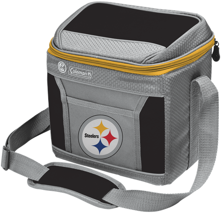 Rawlings Pittsburgh Steelers 9 Can Cooler In Team Colors With Team Logo On Front SKU #03281082111