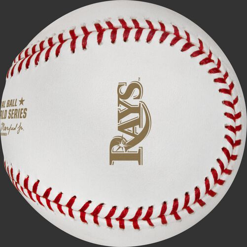 The Tampa Bay Rays logo stamped in gold on the 2020 dueling World Series ball - SKU: EA-WSBB20DL-R