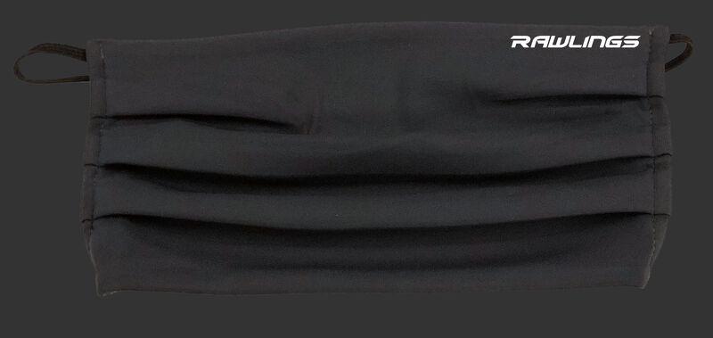 A black Rawlings Performance Wear ear loop sports mask - SKU: RMSKE-BLK