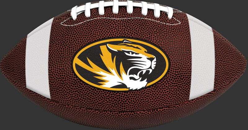 Brown NCAA Missouri Tigers Football With Team Logo SKU #04623086811