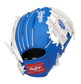 Back of a blue/white Los Angeles Dodgers 10-inch I-web glove with a red Rawlings patch - SKU: 22000011111 image number null