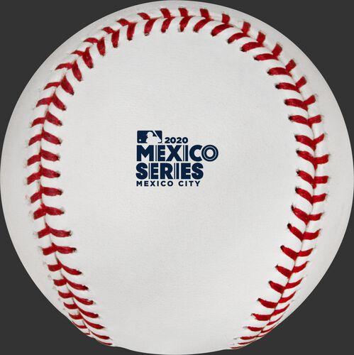 The Mexico Series logo stamped on an official MLB baseball - SKU: ROMLBMS20