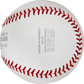 The scores from all for games of the 2019 NLCS stamped on a NLCS19CHMP National League Champions baseball image number null