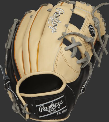 PRONP4-2CBT 11.5-inch NP pattern infield glove with a camel and navy back