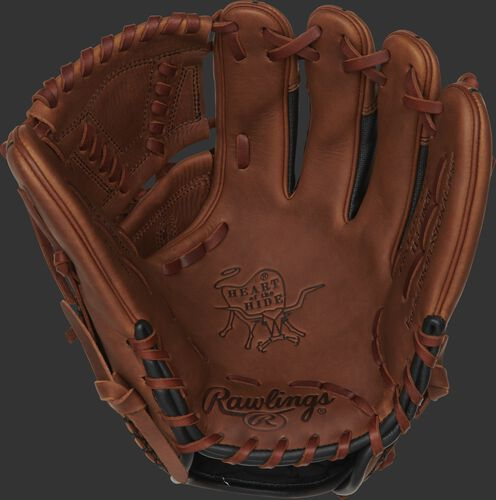 PRO205-30TISS Rawlings Heart of the Hide ColorSync glove with a timberglaze palm, timberglaze web and tan laces