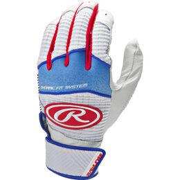 Adult Workhorse Batting Glove Red, White, Blue