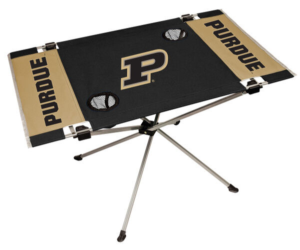 Rawlings Black and Gold NCAA Purdue Boilermakers Endzone Table With Two Cup Holders, Team Logo, and Team Name SKU #04053053111