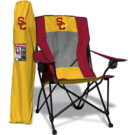 Front of Rawlings Gold and Cardinal NCAA USC Trojans High Back Chair Withe Team Logo SKU #09403100518