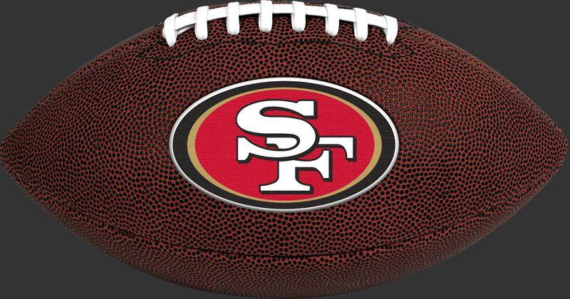 Brown NFL San Francisco 49ers Football With Team Logo SKU #07081084811