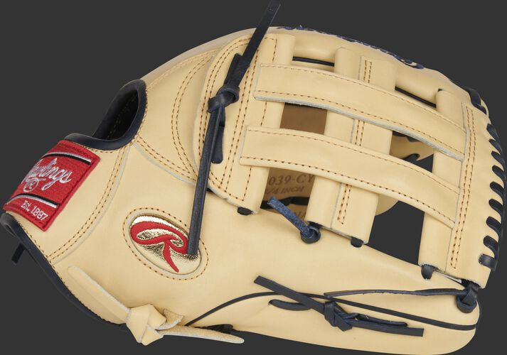 Thumb of a Gameday 57 Series Christian Yelich Heart of the Hide glove with a camel H-web - SKU: RSGPRO3039-CY22