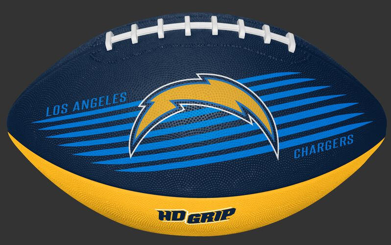 Blue and Gold NFL Los Angeles Chargers Downfield Youth Football With Team Logo SKU #07731083121