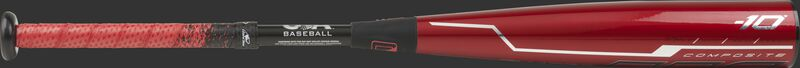 USZQ10 two-piece Quatro Pro USA Baseball bat with a red barrel and silver/black accents