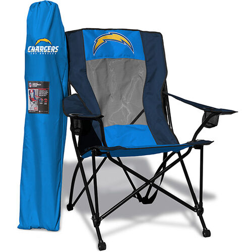 Front of Rawlings Powder Blue and Navy NFL Los Angeles Chargers High Back Chair With Team Logo SKU #09211083518