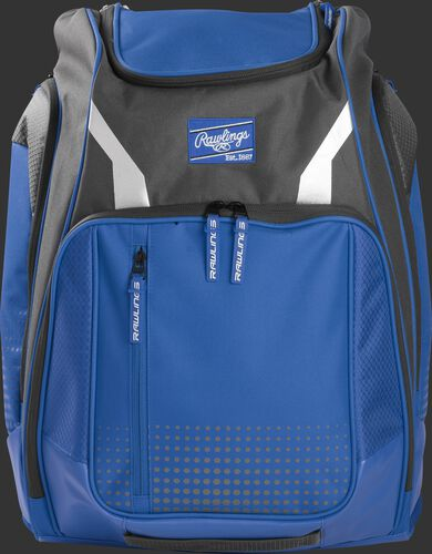 A royal Legion backpack with a royal Rawlings patch on the front - SKU: LEGION-R