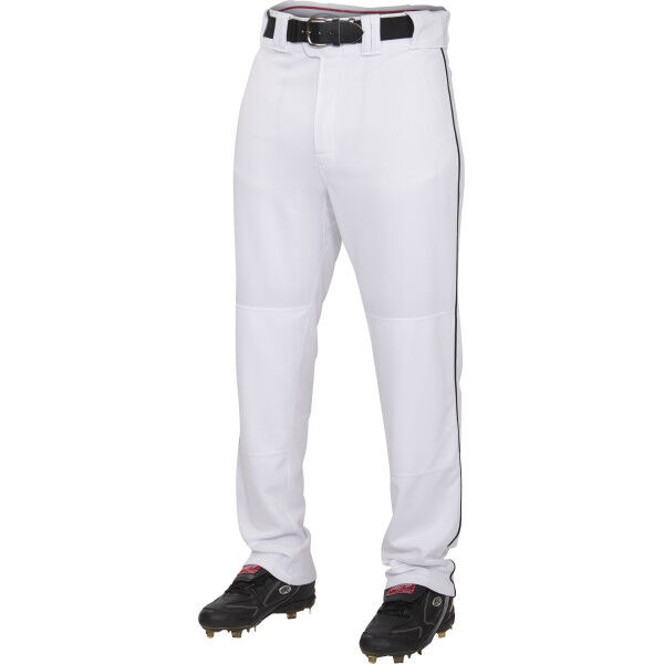 Youth Semi-Relaxed Piped Pant White/Black