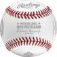 Front of a NLCS19CHMP 2019 Washington Nationals National League Champions baseball with the Official Baseball of MLB stamp image number null