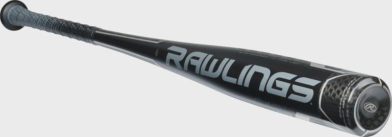 BBZV3 Rawlings high school/college BBCOR baseball bat with a black one-piece construction