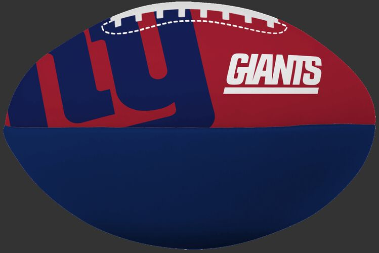 NFL New York Giants Big Boy softee football featuring team logos and printed in team colors SKU #03211078111