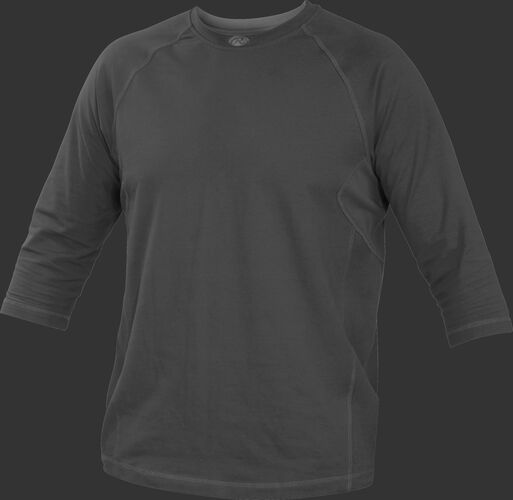 Front of Rawlings Graphite Youth 3-Quarter Length Sleeve Shirt - SKU #YRS34