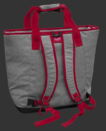 Back of a Kansas City Chiefs tote cooler with backpack straps - SKU: 10311071111