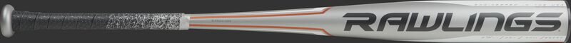 BBZ53 5150 high school/college alloy baseball bat with a grey barrel and black/orange accents