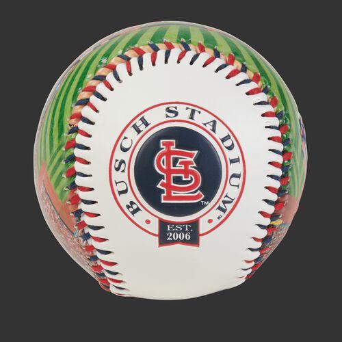 St. Louis Cardinals team logo on a MLB stadium baseball