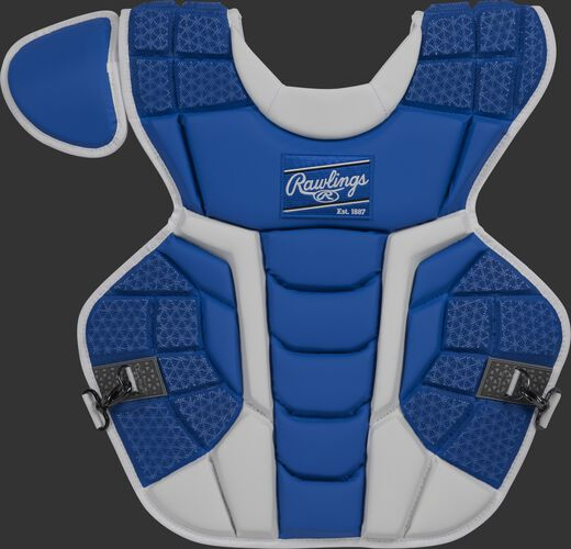 Front of a royal CPMCNI Rawlings Mach intermediate chest protector with Arc Reactor Core