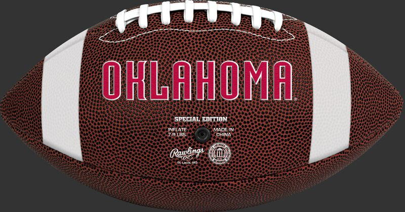Brown NCAA Oklahoma Sooners Football With Team Name SKU #04623045811