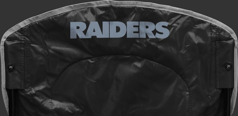 Back of Rawlings Black NFL Oakland Raiders Chair With Team Name SKU #02771072111
