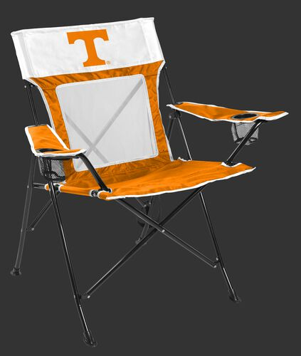 Front of Rawlings White and Orange NCAA Tennessee Volunteers Game Changer Chair With Team Logo SKU #00643101111