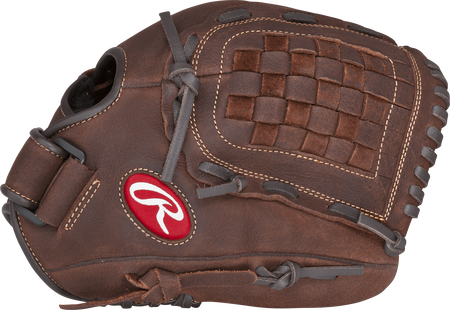 Thumb view of a brown P120BFL Player Preferred 12-inch infield/pitcher's glove with a brown Basket web
