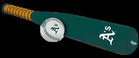 MLB Oakland Athletics Foam Bat and Ball Set